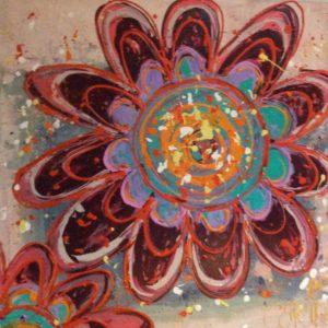 Kunst abstracte modern bloem